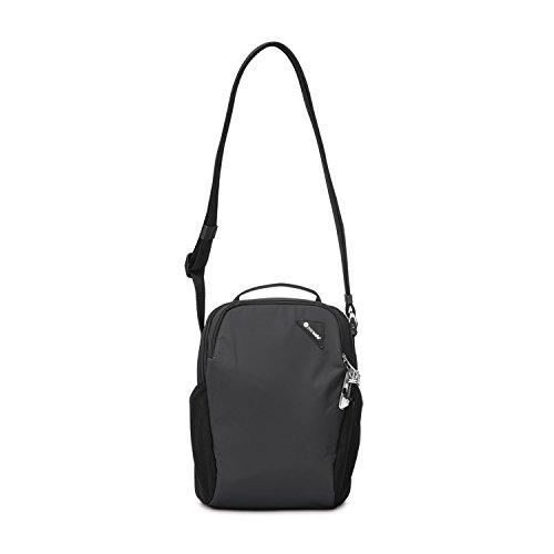 Pacsafe Vibe 200 Unisex-Erwachsene Anti-Theft Compact Travel Bag, Diebstahlschutz Umhängetasche, Schwarz/Black (Damen Compact)