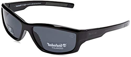 Timberland Herren TB9154 Sonnenbrille, Schwarz (Shiny Black/Smoke Polarized), 62