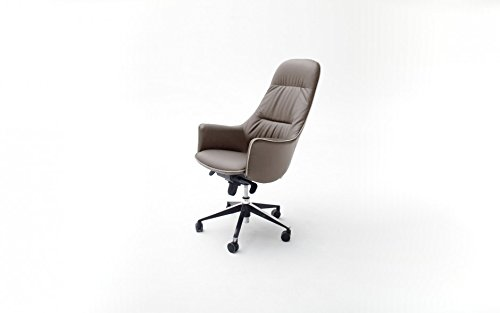 baidani-designer-burostuhl-barclay-braun-in-leder-optik-hohenverstellbar