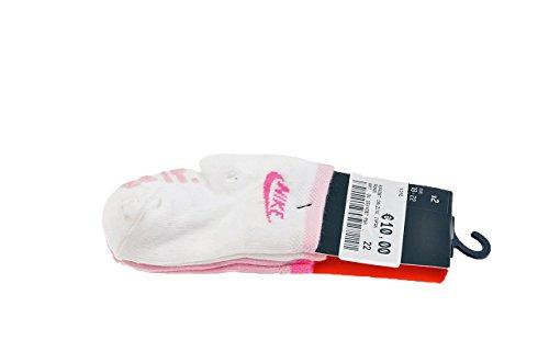 Nike 2P LTL KIDS ANTI SLIP–2Paar Socken für Babys, Weiß/Rosa/Violett L Blanco / Rosa / Púrpura (Nike-jungen Rosa Socken)