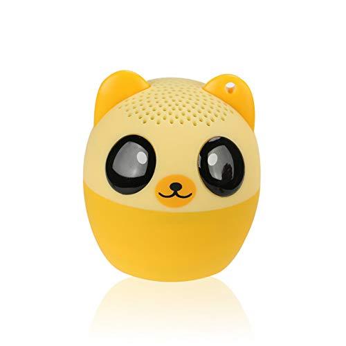 LAKD Mini Tier Bluetooth Lautsprecher Tragbare Cartoon Outdoor-Musik-Player Zoom In Lautsprecher Unterstützung Selfie-Lautsprecher Gelber Bär
