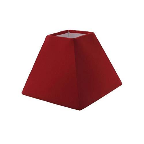 Générique Abat-Jour Forme Pyramide - 16 x 16 x h 13 cm - Polycoton - Rouge