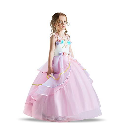 Fashion Bug Halloween Kostüm - TTYAOVO Blumenmädchen Einhorn Kleid Mädchen