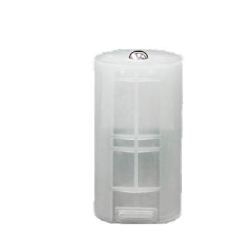 8x AA auf D Batterie Adapter Weiße Tasche