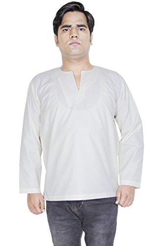 Vestito yoga breve kurta mens modo del cotone a maniche lunghe t-shirt -size m