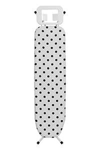 Premier Housewares Table à repasser Pois noirs/fond blanc