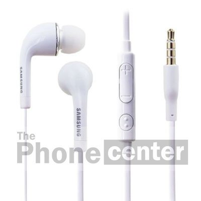 TPC© Original Freisprecheinrichtung Samsung eo-eg900bw in-Ear Kopfhörer für Samsung Galaxy S, S2, S3, S4, S5, Note 1,2,3, Ace, Core, Prime, Neo, Grand, Mini, J1, J3, J5, A3, A5, weiß, bulk