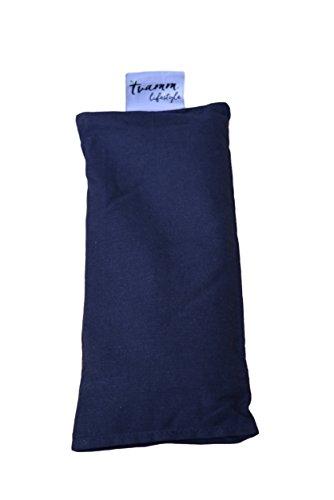 Tvamm Lifestyle Augenkissen mit Leinsamen/Lavendel Füllung – 100% Baumwolle Stoff, 23 x 11 cm/in wunderschönen Farben erhältlich