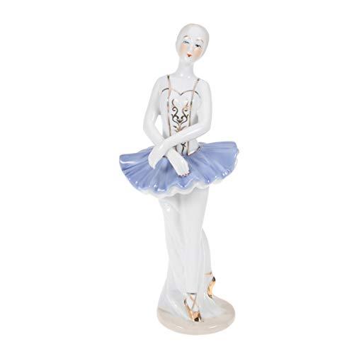 SUPVOX Ballerina weiß Design Frau Ballett Figur Zierfigur Dekofigur Keramik Ballerina Figur Tanz Ornament für Tisch zuhause