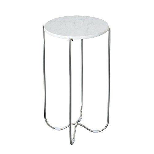 Invicta Interior Exklusiver Beistelltisch Noble aus Hochwertig verarbeitetem Weißen Marmor Tisch Marmorplatte Wohnzimmertisch