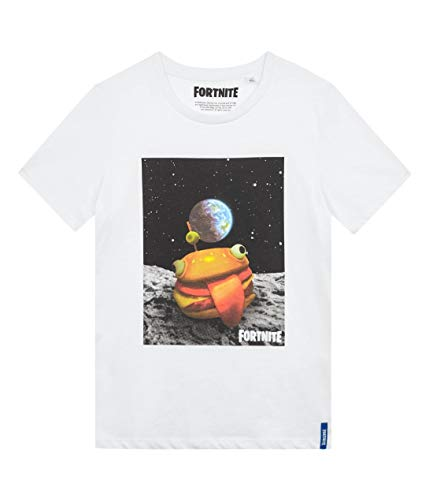 Fortnite Camiseta para Niños (10 años, Blanco)