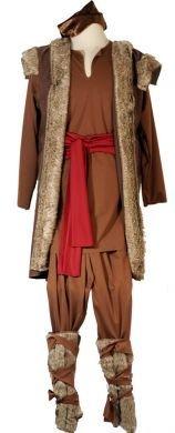 CL COSTUMES Bühne-Panto-Theater-Welt Büchertag EISKÖNIGIN Kristoff Viking Unisex Kostüm - Alle Größen - Wie abgebildet, Men: Medium (Kostüme Aus Aller Welt)