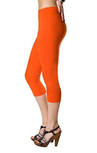 futuro fashion court Leggings coton classique 3/4 Pantalon haute qualitéété couleurs Orange