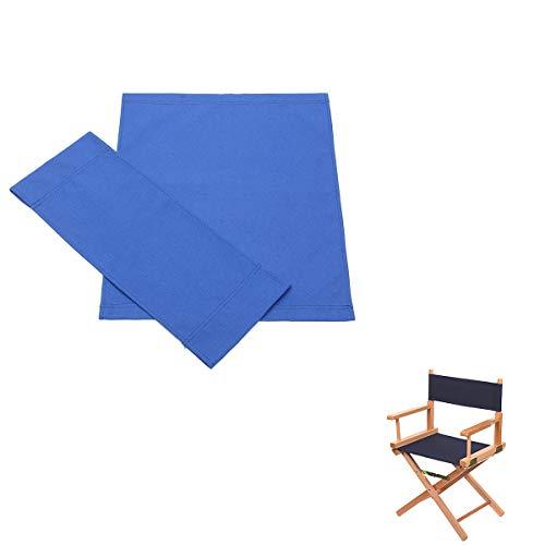 Vvciic Coprisedili per direttori, Copertura per sedie in Tela Durevole di Ricambio Copertura per telone Lavabile in Tela Lunga Durata (Blu)