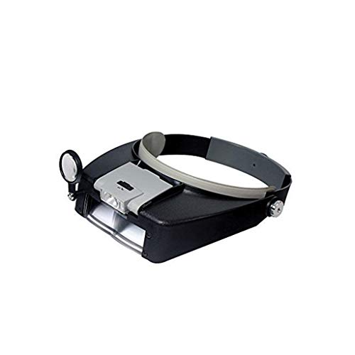 Rongzou Glass Helm Vergrößerungs LED beleuchtet Uhr Reparatur Lupe Stirnband Lupe Werkzeug