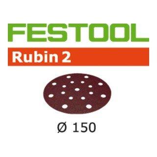 50x Festool Schleifscheiben STF D150/16 P150 RU2/50 Rubin 2 - 70325130x50