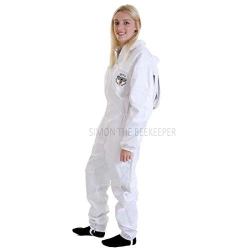 Simon The Beekeeper Buzz Clôture à vêtements de Travail Combinaison Blanc avec Voile - 4 x L