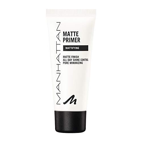 Manhattan Matte Primer, Leichter und mattierender Primer für ein makelloses Hautbild und ein Ideal mattiertes, ebenmäßiges Finish