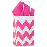 Nashville Wraps Shopping Gift Bags 25 Count - Chevron Stripe - Hot Pink - Rose by Nashville Wraps preisvergleich bei billige-tabletten.eu