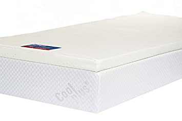 memory foam mattress topper with cover 2 inch uk double