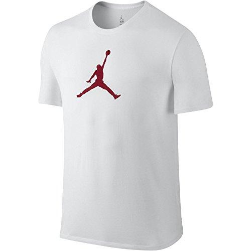 Jordan-t-shirt Weiße (Nike JUMPMAN DRI-FIT TEE - Kurzärmeln T-Shirt Michael Jordan Weiß - XL - Herren)