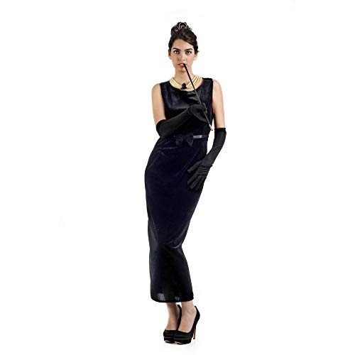 Limit Sport Hollywood Film Star Kostüm Kleid Frau schwarz für Karneval und Mottoparty Größe L ()