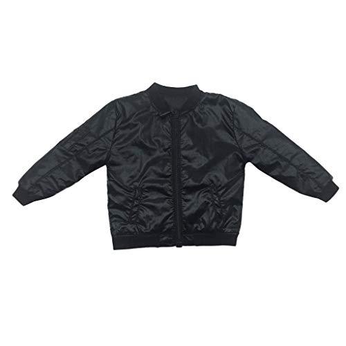 Baoblaze 1/6 PU-Leder Jacket Mantel Bekleidung für 12 Zoll Männliche Action Figur, Puppenkleidung (12 Action-figur-puppen Cm)