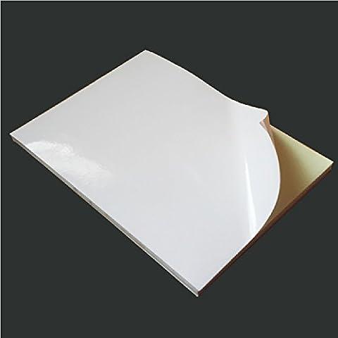 AKA 100x A4Blanc [brillant] autocollant feuilles de papier étiquettes adresse 1ère classe
