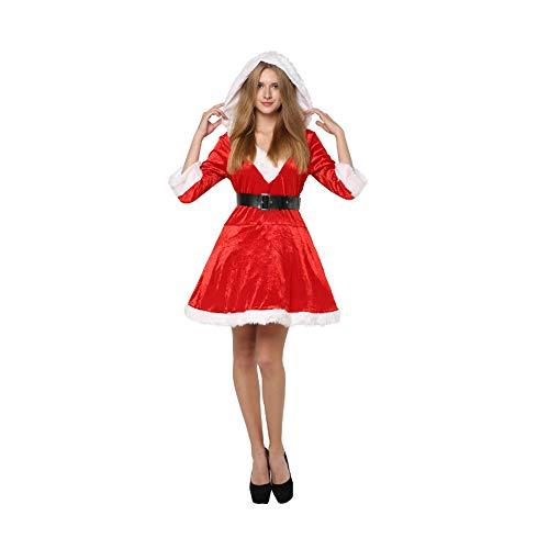 Singles Kostüm - Santa Claus Kostüm, Damen Weihnachtskleid, Cosplay Kostüm Marvel Party Kleid, Holiday Party Kleid Cosplay Kostüm Single Size Kleid, Hut, Gürtel