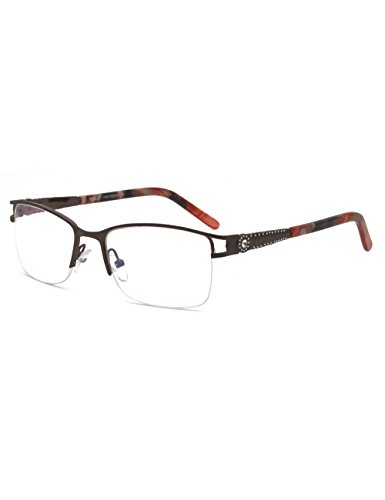 Uncovered wide angle lens design semi-rimless metal optical frames clear lens
