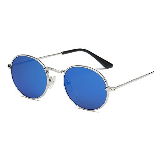 OULN1Y Sport Sonnenbrillen,Vintage Sonnenbrillen,Sunglass Frame Sunglasses Colorful Sunglasses Sunglasses Reflective Glass Vintage Metal Oval Small