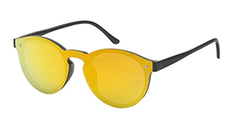 Sonnenbrille Flachglas Round Glasses Aviator Panto 100% UV Polycarbonatglas Panto orange
