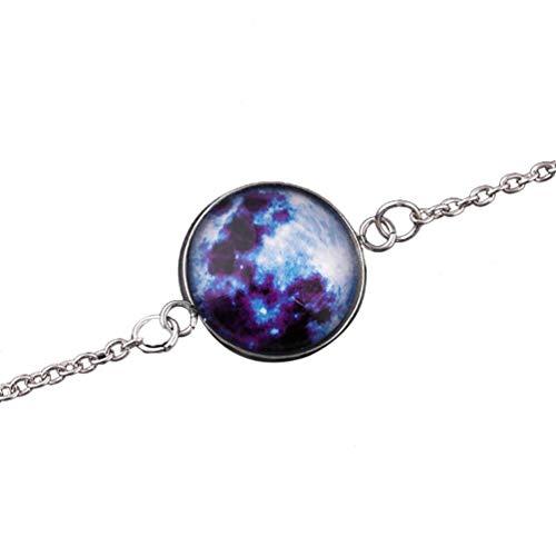 Premium-Qualität Armband für Frauen, Fantasy Universe Kette Armband im Dunkeln leuchten Schmuck GeschenkCarry Stone (Glühen Der Dunklen Armbänder In)