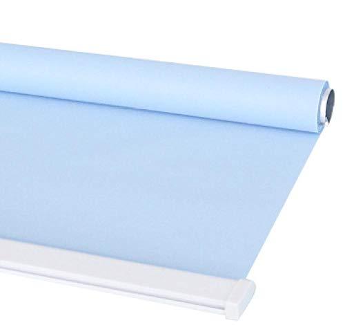 dusg Estores Collection Estor Enrollable Liso Persianas Punch Pull sección de Perlas Media Sombra Azul Claro 160 × 240CM