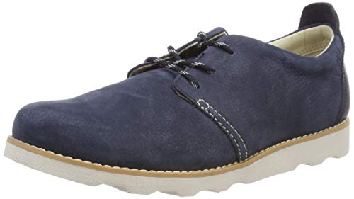 Clarks Jungen Crown Park K Sneaker, Blau (Navy Leather), 33 EU