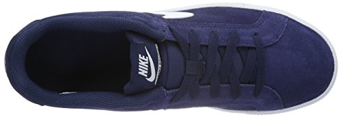 Nike Herren Court Royale Suede Sneaker Azul / Blanco (Midnight Navy / White)