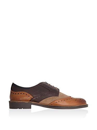 Daim Et Cuir Worsthorne GOODWIN SMITH Mélangent Der Brown/tan/marine/bordeau Brown/Tan/Stone