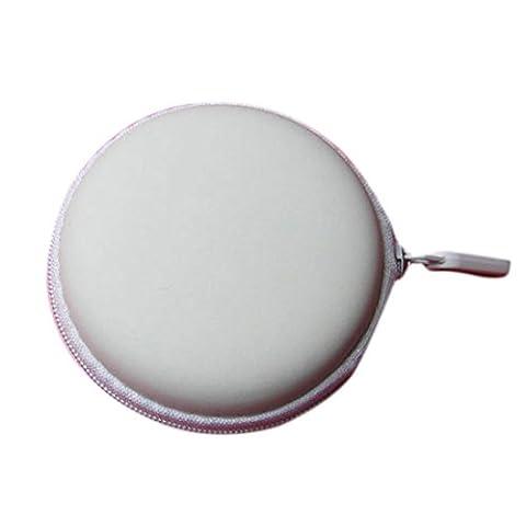 Sacs à dos, Kolylong® Portable Mini Ronde Stockage Disque Sac Pour éCouteur Cartes SD TF (Blanc)