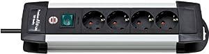 Brennenstuhl Premium Line en aluminium technique bloc multiprise 12prises Noir avec interrupteur, 1391000012