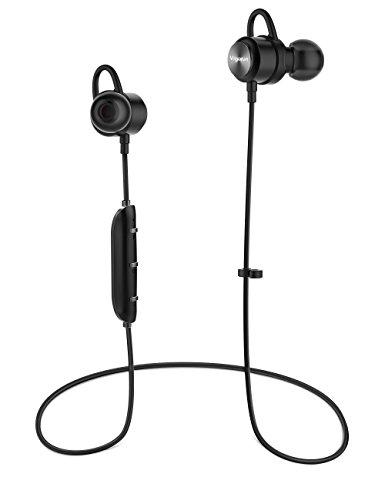 Vigorun Bluetooth Kopfhörer Y3 Kabellos Stereo Ohrhörer In-Ear Magnetisches Schnurlose Sport Ohrhörer Bluetooth V4.2 IPX6 Wasserdicht CVC 6.0 Noise Cancellation, für Sport und Workout(Schwarz) thumbnail