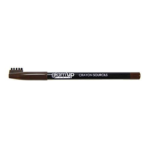Glam'Up - Maquillage Yeux Crayon Sourcils Marron Foncé - Fabrication Européenne