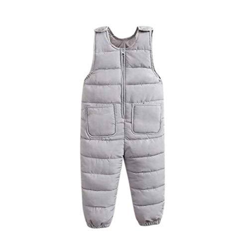 kasonj Mädchen Jungen Ski Latzhose Kid Winter Warm Reißverschluss Schnee Hose Kleinkind Leichte Daunen Baumwolle Oberbekleidung - Kleinkind-schnee-hose