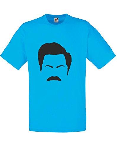 ron-swanson-facial-features-imprime-des-hommes-t-shirt-azur-noir-xl-111-116cm