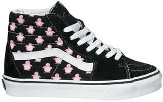Vans SK8 Hi (Pink Penguins) Black/White