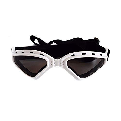 TIKEN Große Hund V-Sonnenbrille UV-Schutz Mode Brillen Brille,White
