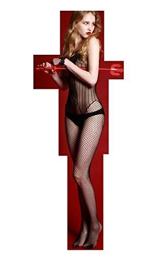 Netz Anzug, Damen, schwarze Spitze, durchsichtige Strumpfhose, Gr. S/M 34,36,38 Ganzkörper, langarm, Netz Strumpfhose, sexy, Fetisch Catsuit 120