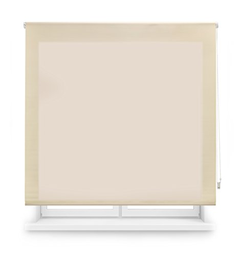 Blindecor Ara Estor enrollable translúcido liso, Beige, 140 x 175 cm