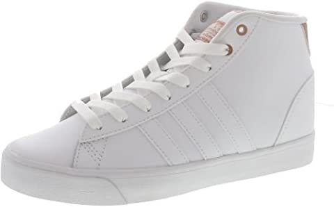 adidas Damen Cloudfoam Daily Qt Mid W Sneaker Low Hals, Elfenbein (Ftwbla/Ftwbla/Cobmet), 40 EU
