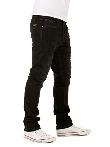 WOTEGA Herren Jeans - Sweathose in Jeansoptik Noah - slim Schwarz (Phantom Black 3R4205)