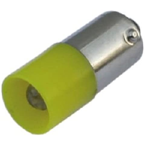S + H estándar LED 5 mm 10 x 25 mm casquillo BA9s 24-28 V AC/DC amarillo puente rectificador